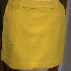 Wool flannel mini skirt